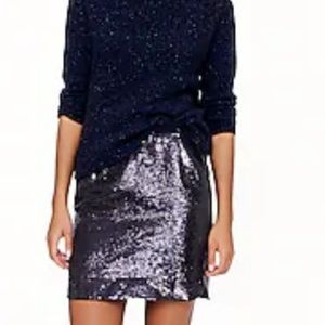 Nwt J. Crew sequined mini skirt